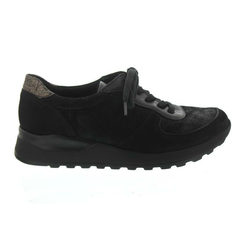 Bosque alfil Hiroko-Soft, cortos, nubukleder Stretch kombi., negro, negro, negro, ancho h h  la calidad primero los consumidores primero