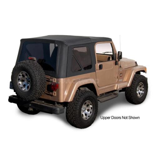 97-02 Tinted Windows Black Denim Jeep Wrangler TJ Soft Top Upper Doors