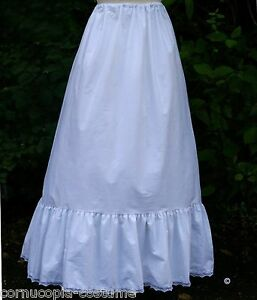 Ladies-petticoat-Victorian-Edwardian-costume-fancy-dress-100-cotton