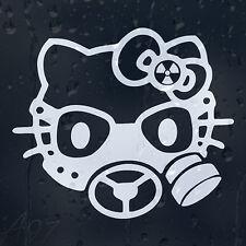 Hello Kitty Gas Mask Car Window Body Panel Laptop Phone Decal  Vinyl Sticker