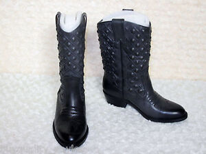 b04e130b330 Details about NEW Lucky Brand Madonna Studded Leather Rider Western BOOTS  Womens 6 Ash Grey