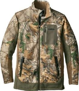 af7f0835662 Details about Cabela's Instinct Men's Reliant Whitetail Thermal Zone Fleece  Jacket Size Large