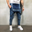 Men-Distressed-Denim-Overalls-Suspender-Trousers-Bib-Pants-Skinny-Jean-Jumpsuits thumbnail 13