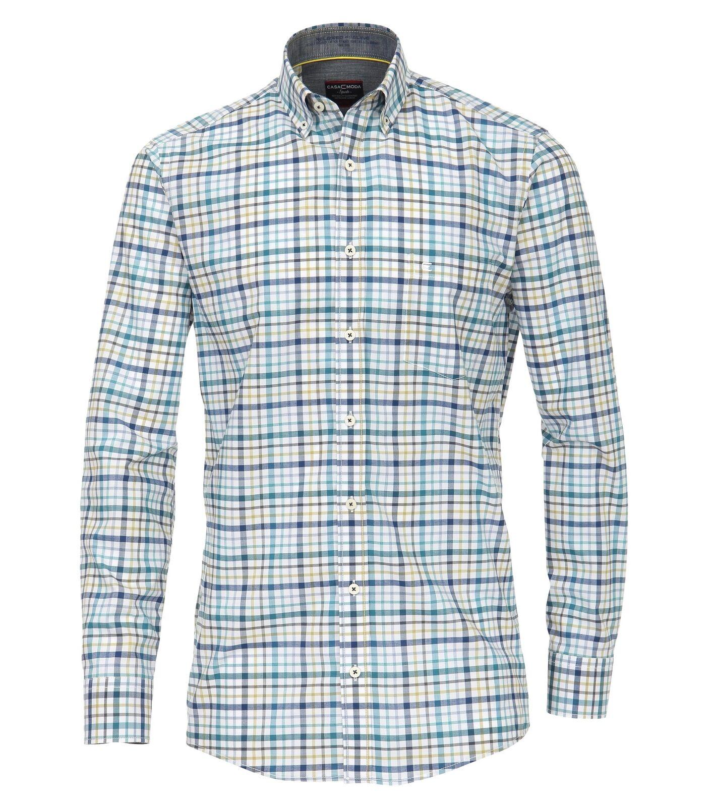 Casa Moda-Comfort fit-Mouliné Uomo Uomo Uomo Camicia A Quadri In Blu (482895600) 4e4395