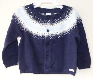 87bb68814ed3 New Janie and Jack Fair Isle Forest Cardigan Sweater Boy s Sz 6-12M ...