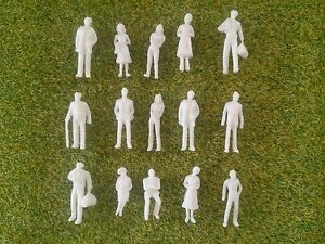1-100-Scale-Architecture-Model-White-Unpainted-Figures-People-25-50-100