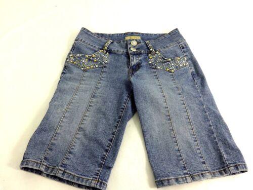 Couture Wash Blue denim Pantaloncini in Med S Juidy Womens taglia EnOqWvxqT