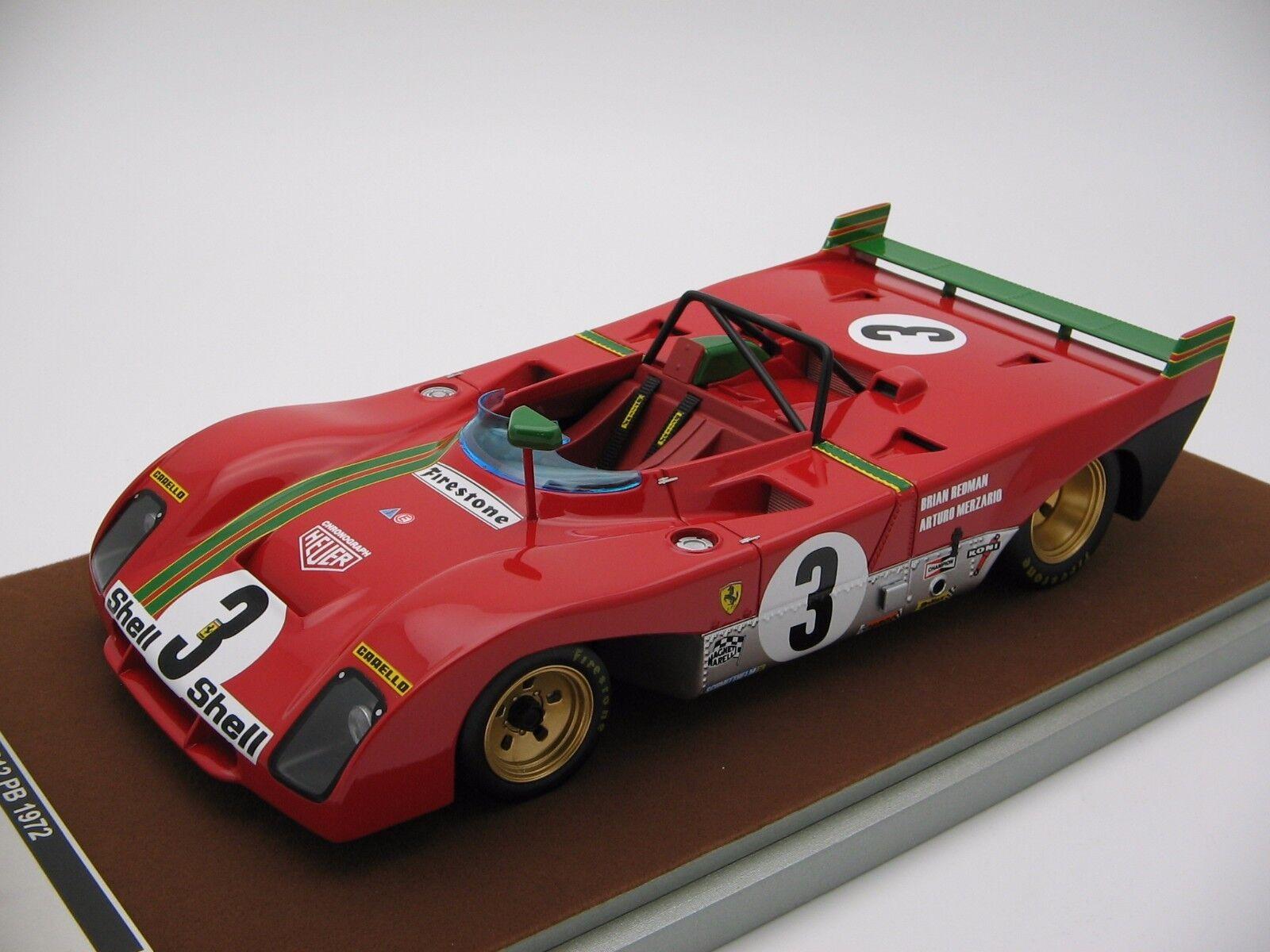 Joyeuses fêtes et bonnes affaires! 1/18 scale Tecnomodel Ferrari 312PB SPA 1000KM 1972 TM18-62E | Technologie Sophistiquée  | Prix Raisonnable  | Excellent (dans) La Qualité