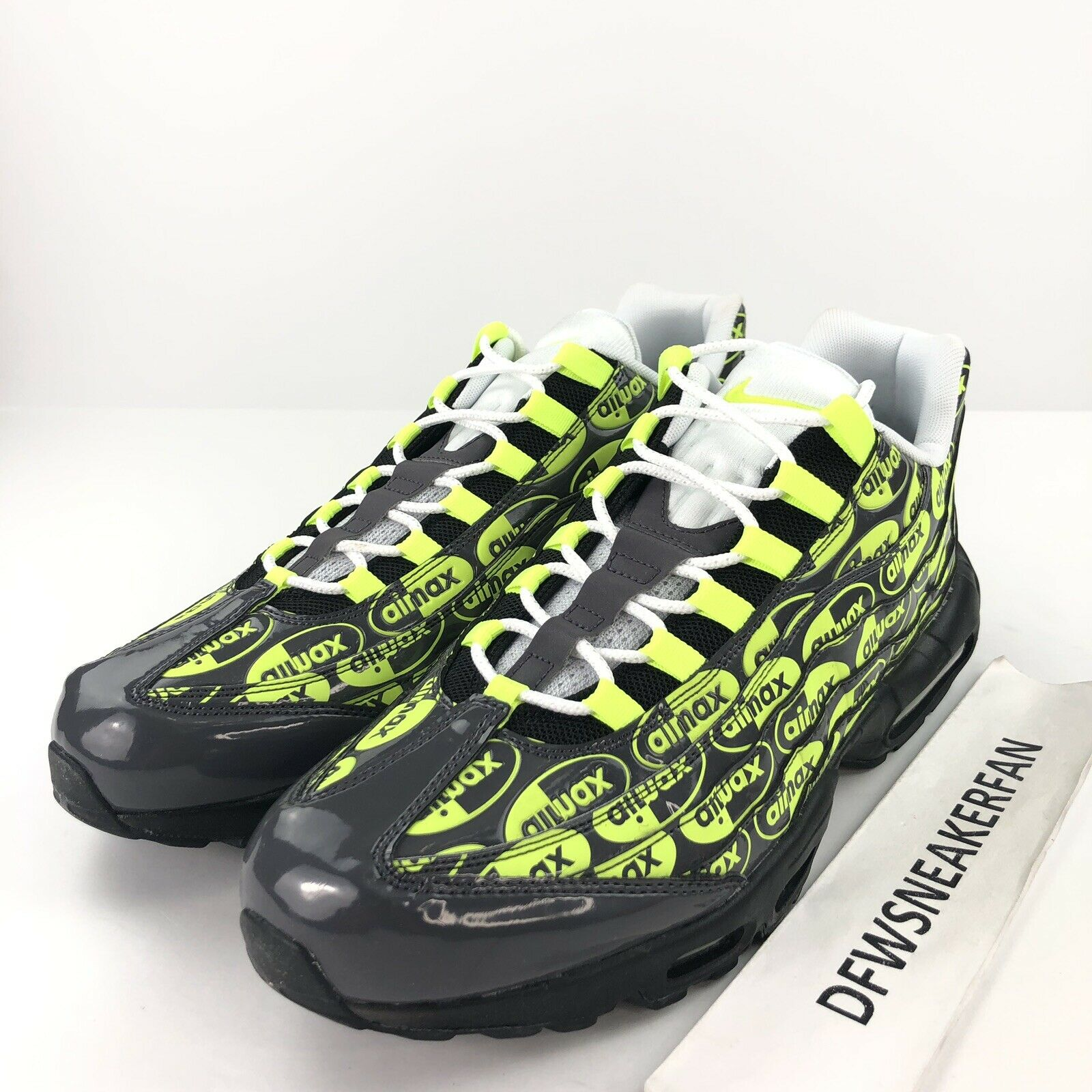 Nike Air Max 95 Premium Men's 14 Logo Pack Volt Running shoes 538416-019 New