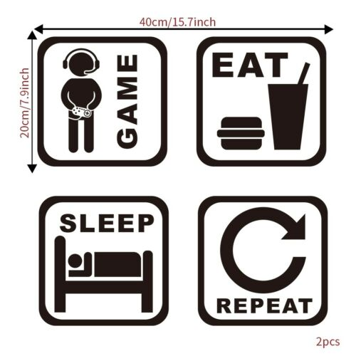 Wall Stickers Vinyl Wall Decor Decal Game Room Ornament School Sticker Removable