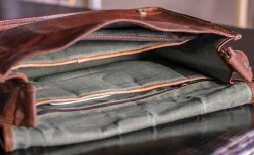 Vintage Mens Genuine Real Leather Handbag Shoulder Bag Satchel Messenger New Bag