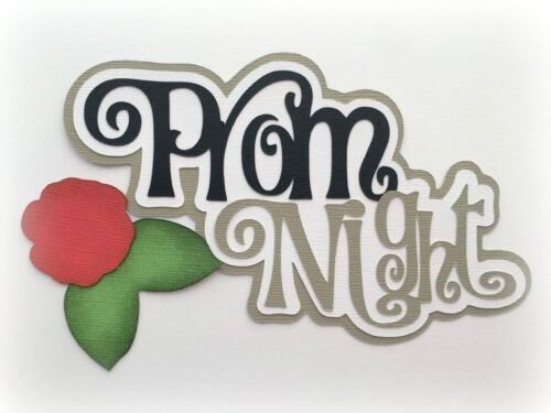 PROM NIGHT TITLE PREMADE PAPER PIECING 3D DIE CUT MY TEAR BEARS KIRA