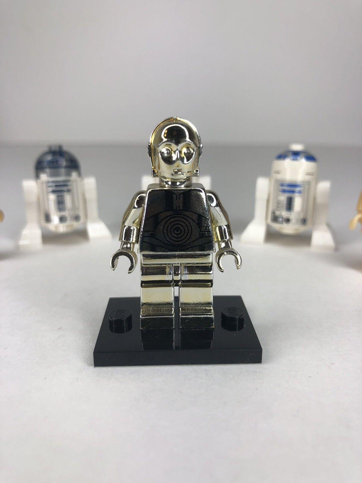LEGO STAR WARS WARS WARS CHROME gold C-3PO 1 OF 10000 LIMITED EDITION C3PO R2D2 Sw158 Nn d137a1