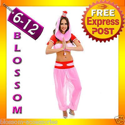 J72 Ladies Bottle Genie Fancy Dress Costume Outfit Dream Jeannie Harem Pants Hat