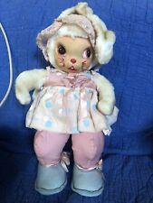 RARE Vtg Rushton Star Creation Rubber Face Bunny Rabbit 17? Plush Stuffed Toy