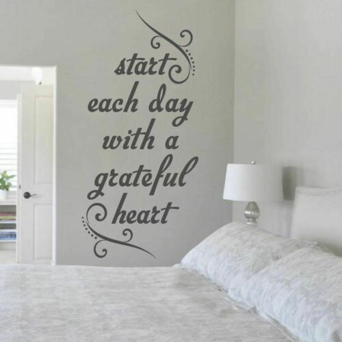 Entryway Sticker Start With A Grateful Heart Wall Decal Inspiration Bedroom