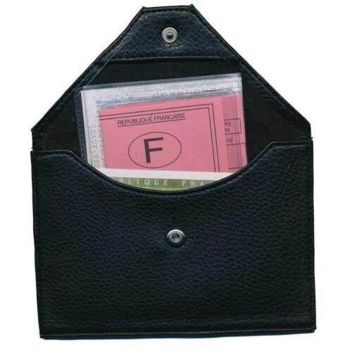 enveloppe Femme Étui cuir Porte Carte Grise papiers permis Homme