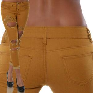 Damen Jeans Hose Röhrenjeans Hüftjeans Hüfthose Skinny Strech Strechjeans H47