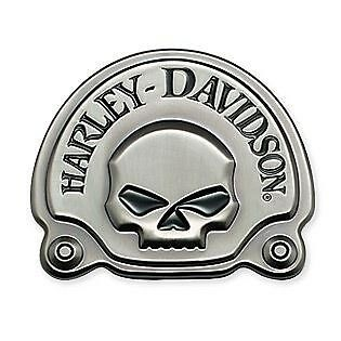 HARLEY DAVIDSON Willie G Skull MEDALLION BADGE Sissy Bar Tour Pack Battery