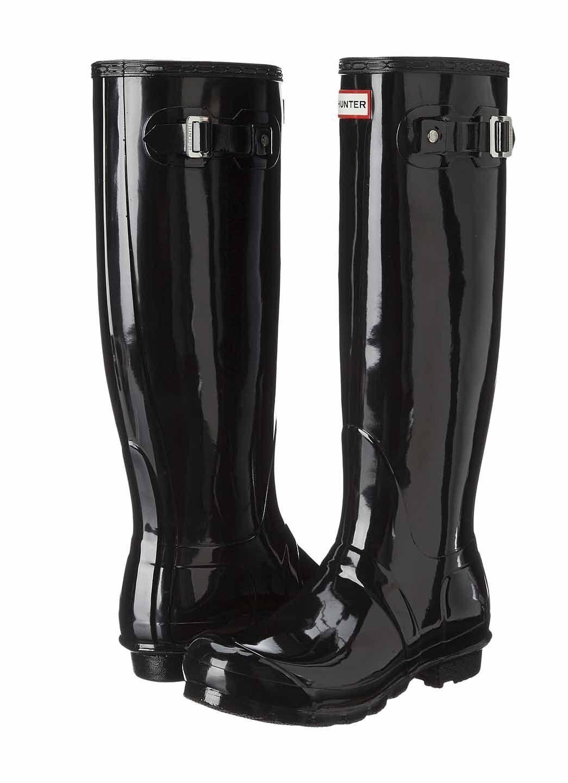 Hunter Original Tall Gloss Wellington Wellington Wellington botas WFT1000RGL Welly Negro talla 5-11  Nuevo en Caja   estilo clásico