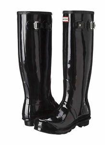 Hunter-Original-Tall-Wellington-Gloss-Boots-WFT1000RGL-Welly-Black-SZ-5-11-NIB