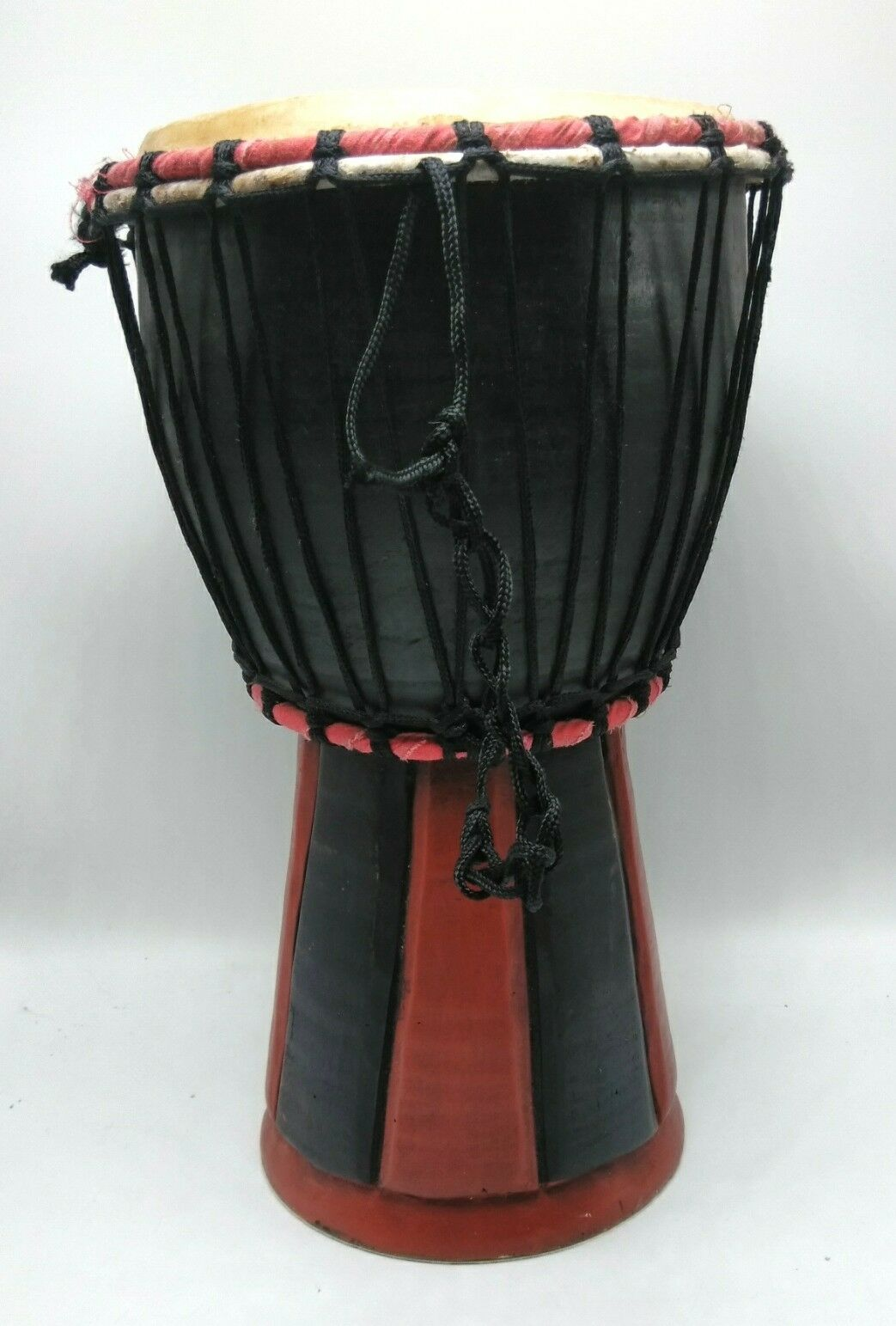 Djembe Drum schwarz rot 14 X 7 - African Hand Drum