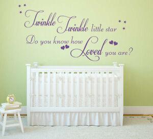 Image Is Loading Twinkle Twinkle Little Star Childrens Wall Art Sticker  Part 58