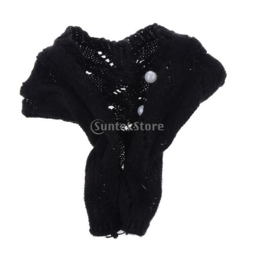 Stylish Casual Outfit Black Sweater Cardigan for 1//6  XinYi Doll Accs