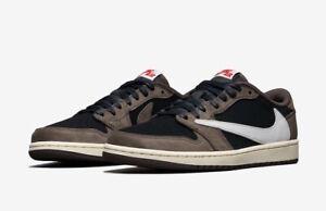 Details about Nike Air Jordan 1 Low OG SP TRAVIS SCOTT size 13. Black Red  Mocha. CQ4277-001.
