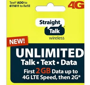 Details about Straight Talk Unlimited Service Refill 30 Day Service Paper  2GB