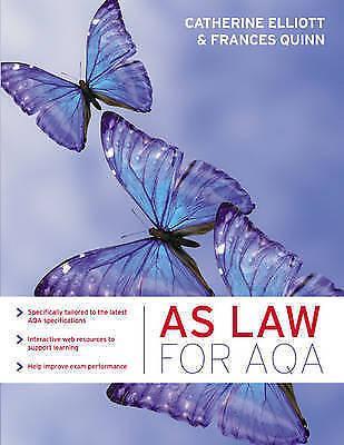 "1 of 1 - ""VERY GOOD"" AS Law for AQA, Quinn, Frances, Elliott, Catherine, Book"