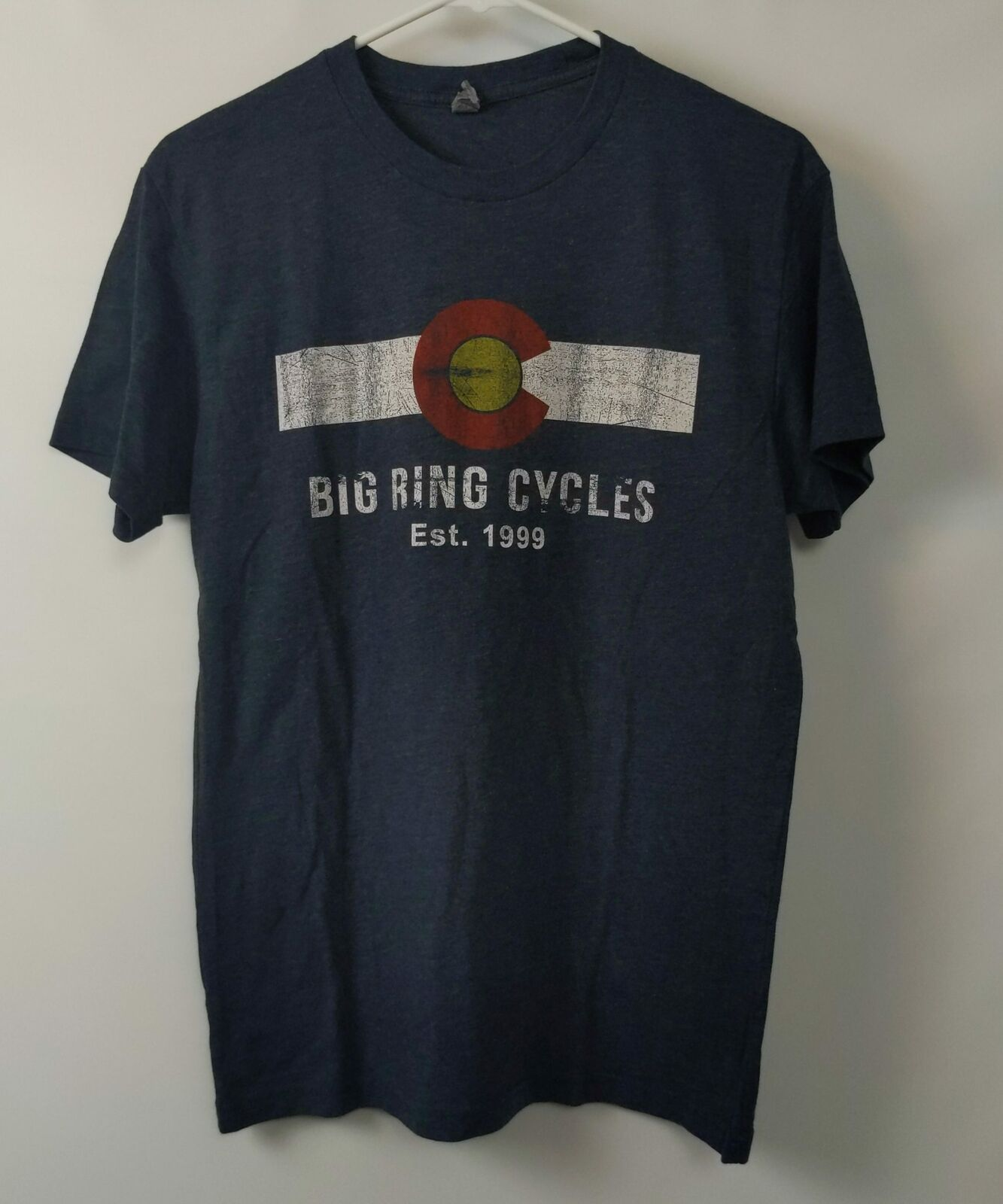 Big Ring Cycles - T-Shirt Golden, Colorado 1999 SMALL Distressed