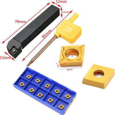 10pcs CCMT060204 VP15TF Carbide Inserts SCLCR1212H06 Lathe Turning Tool Holder