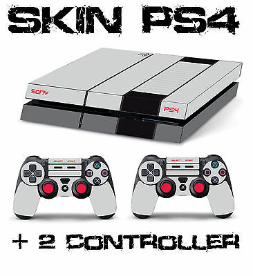PS4 SKIN NINTENDO NES CONSOLE + 2 CONTROLLER decal sticker playstation 4