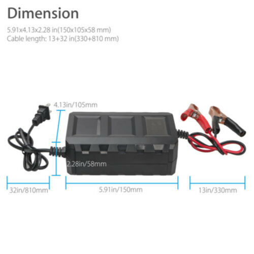 Intelligent 12 Volt 20 Amp LCD Car Van Motorcycle Lead Acid Battery Charger 1Set