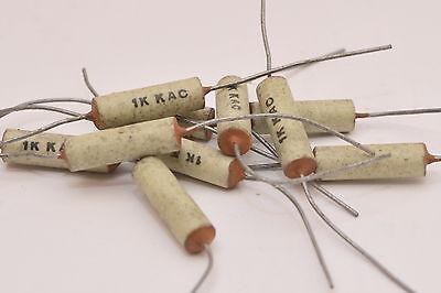 20 Keramik-Kondensator 1000 pF Typ HIK-K axial im Keramik-Gehäuse