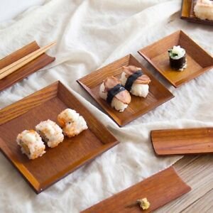 Square-Wooden-Dish-Plate-Snack-Dried-Fruit-Dessert-Sushi-Cake-Tableware-Home