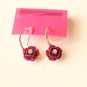 New-Betsey-Johnson-Rose-Drop-Dangle-Earrings-Gift-Fashion-Women-Party-Jewelry