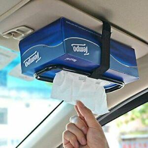 1Pc Car Tissue Paper Box Napkin Case Holder Black Visor Back Seat Organiser Good