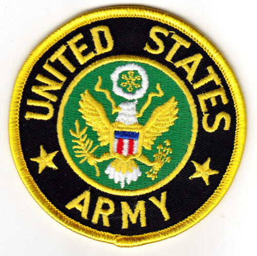"""PATRIOTIC MILITARY /""""UNITED STATES ARMY/"""" DUTY- iron On Patch"""