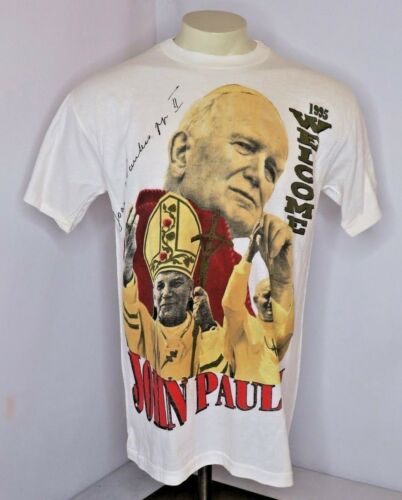 VTG Pope John Paul T Shirt 90s single stitch rap t