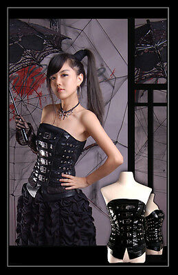 NEW Punk Rave Gothic Corset Top Waistcoat ALL STOCK IN AUSTRALIA Fast Shipping