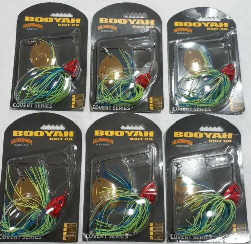 Details about  /6-Pack Booyah Covert Series Spinner Bait 1 oz BL//CHT NEW! BYCVS1GC725