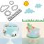 5PCS Plastic Sugarcraft Sun Grass Cloud Cookie Cutter Biscuit Baking Mold