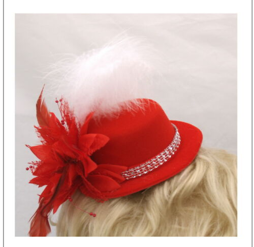 plumes /& strass trim Rouge /& blanc s