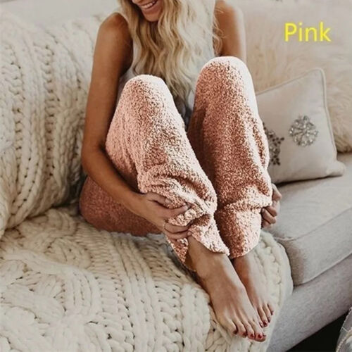 Women Thick Fleece Flannel Lined Thermal Pants Trousers Sweatpants Warm Fall