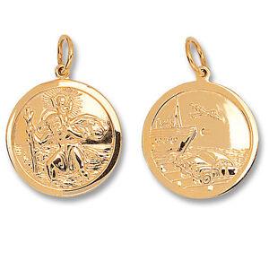 St-Christopher-Pendant-Gold-Saint-Christopher-26mm-Double-Sided-St-Christopher