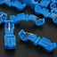 60pcs T-Taps/& Male Insulated Quick Splice Lock Wire Terminals Connectors Blue US