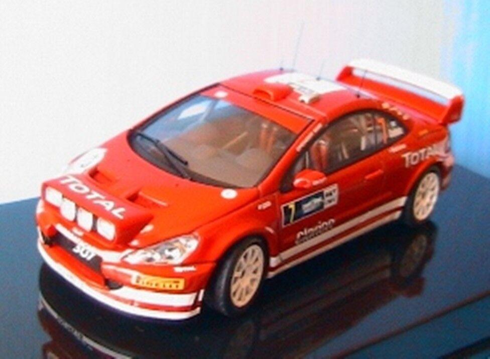 PEUGEOT 307 WRC  7 DEUTSCHLAND RALLY 2005 AUTOART 60556 1 43 rouge GRONHOLM