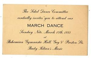 1933-MARCH-DANCE-SOKOL-COMMITTEE-BOHEMIAN-GYMNASTIC-HALL-BALTIMORE-ESSEX